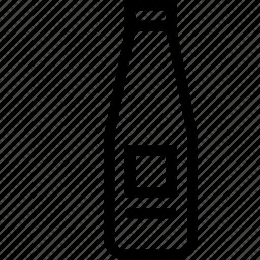 bottle, ketchup, season icon