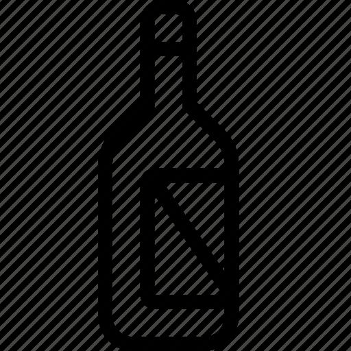 bottle, food, snack, wine icon