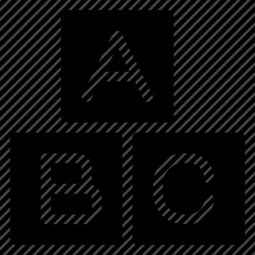 abc, blocks, celebration, kid, kids, learning, party icon
