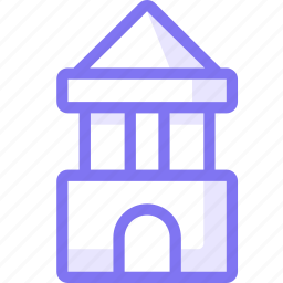 block, castle, education, game, kid, toy icon