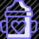 bottle, food, kid, love, vitamin icon
