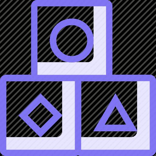 blocks, education, kid, learning, shape icon