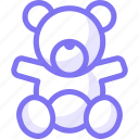 bear, doll, game, kid, teddy, toys icon