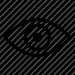 eye, eyes, sight, view icon