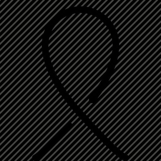 hiv, ribbon icon