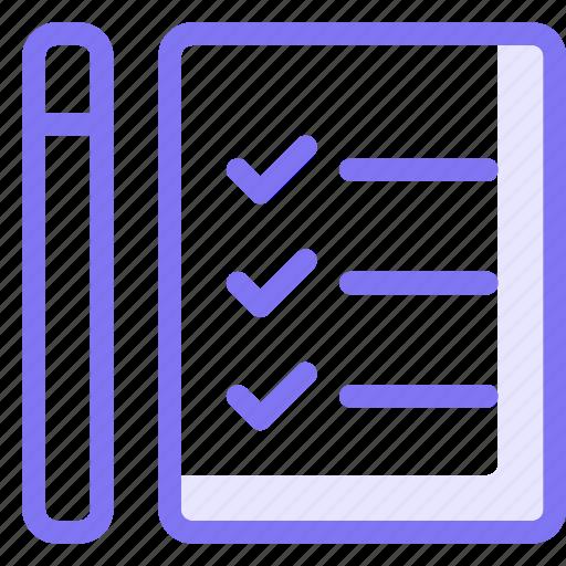 business, checklist, file, write icon