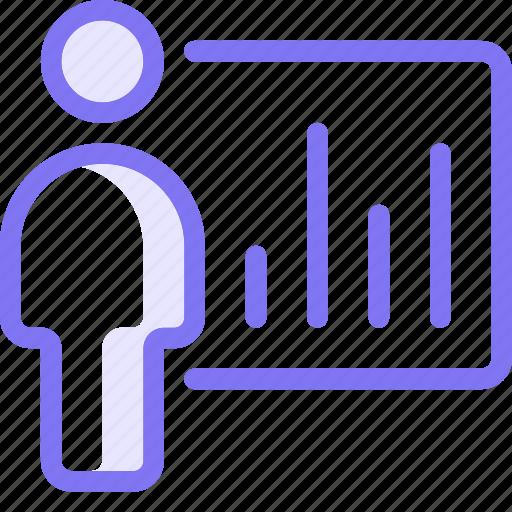 discussion, present, presentation, presenting icon
