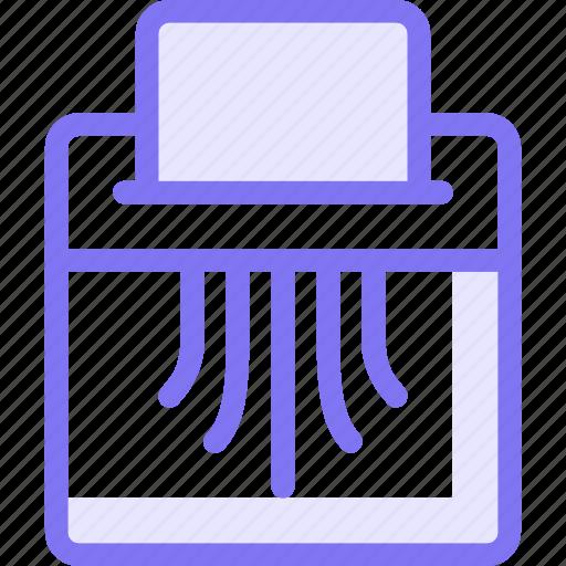 destroy, document, shred, shredder, shreder icon