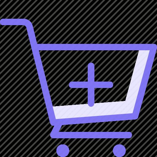 cart, checkout, online, online shopping, plus, shop icon