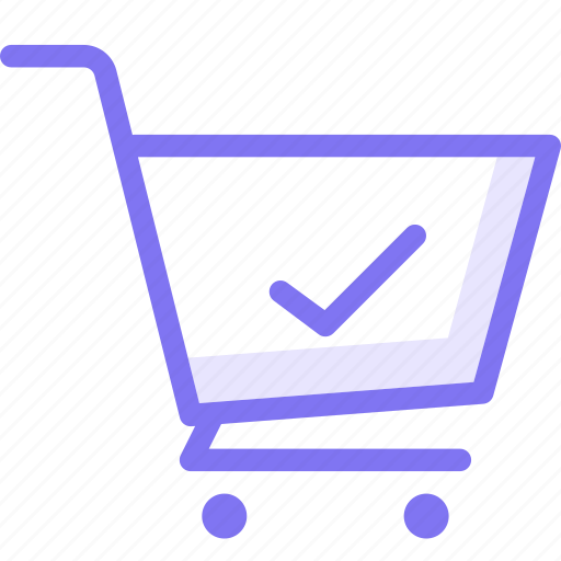cart, history, online shopping, tick icon