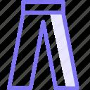 long, pant icon