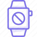 apple, apple watch, blacklist, block, smart, watch icon
