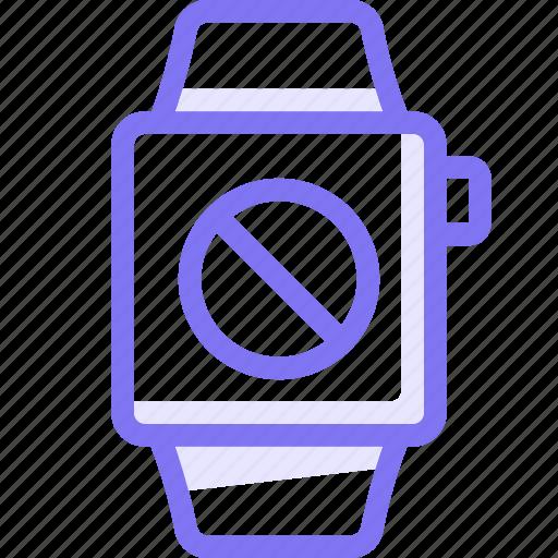apple, apple watch, blacklist, block, smart, watch icon