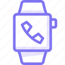apple, apple watch, call, smart, watch icon