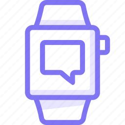 apple, apple watch, chat, smart, watch icon
