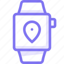 apple, apple watch, location, smart, watch icon