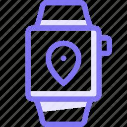 apple, apple watch, location, smart, watch icon