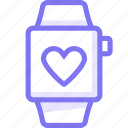 apple, apple watch, love, smart, watch icon