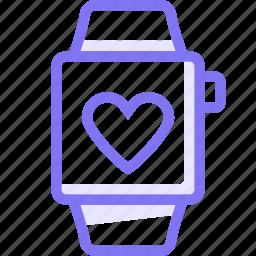 apple, apple watch, love, smart, watch icon