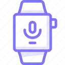 apple, apple watch, mic, microphone, record, smart, watch icon