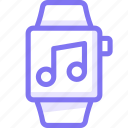 apple, apple watch, music, smart, watch icon