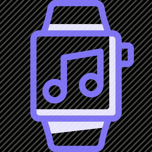apple, apple watch, music, smart, watch icon