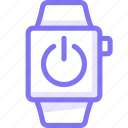 apple, apple watch, power, smart, watch icon