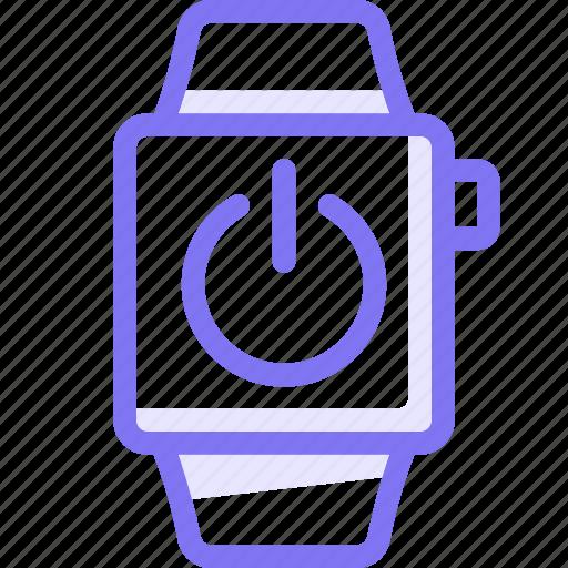 apple, apple watch, power, smart, watch icon
