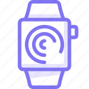 apple, apple watch, progress, smart, watch icon