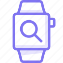 apple, apple watch, search, smart, watch icon
