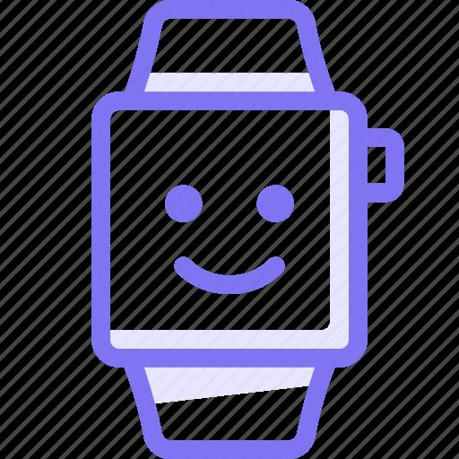 apple, apple watch, emoji, smart, smile, watch icon