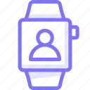 apple, apple watch, smart, user, watch icon