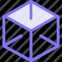 box, design, dimension, research icon