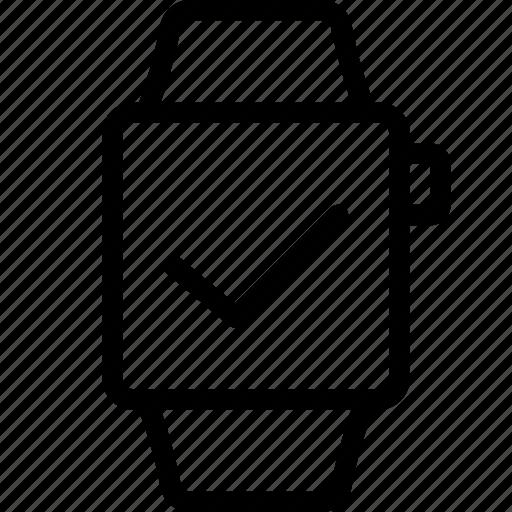 finish, smart, watch icon