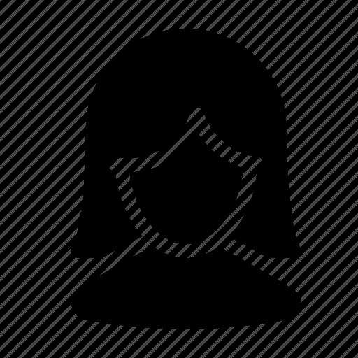client, customer, female, person, silhouette, user icon