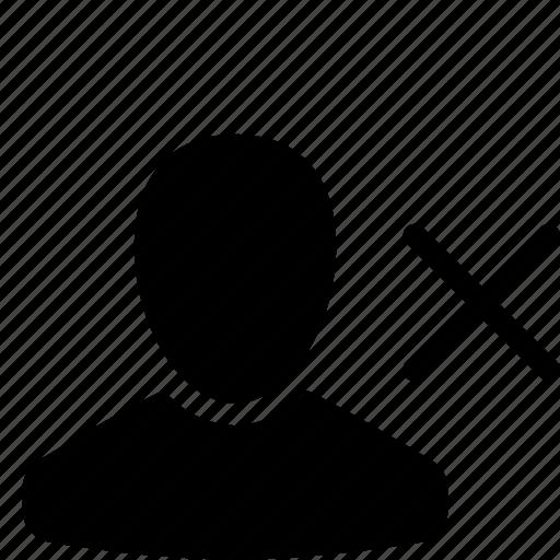 buyer, client, cross, customer, remove, user icon