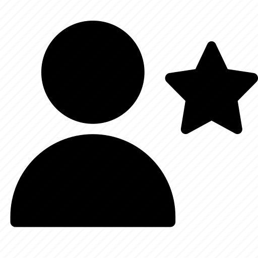 client, customer, favorite, person, silhouette, star, user icon