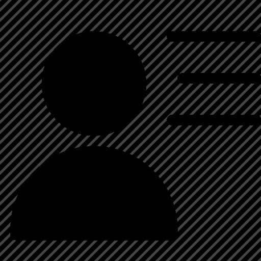 client, customer, list, person, silhouette, user icon