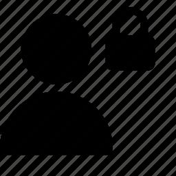 client, customer, lock, person, silhouette, user icon