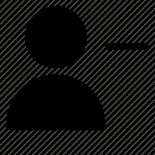client, customer, minus, person, silhouette, user icon