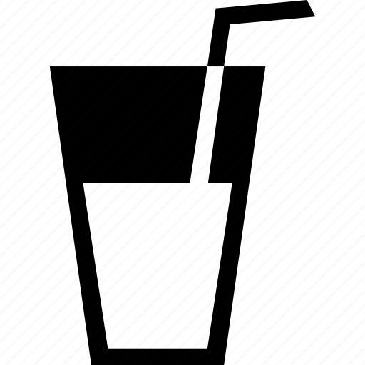 beverage, drink, drinking, glass, straw icon