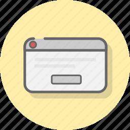 alert, attention, box, error, warning icon