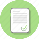approve, document, office, page, paper, sheet, signature icon