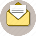 communication, email, envelope, letter, message, open, text icon