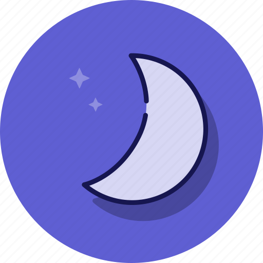 cloud, forecast, moon, night, space, weather icon