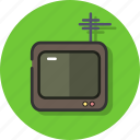 device, display, old, screen, television, tv icon