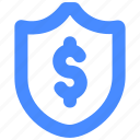 finance, insurance, protection, security, shield icon
