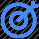 aim, arrow, focus, goal, target icon