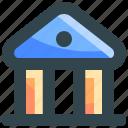 bank, banking, building, deposit, finance icon