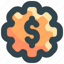 control, finance, manage, management, money, setting icon